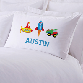 My Little Working Man Personalized Pillow Case