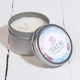 My Yoga Personalized Scented Candle