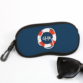 Nautical Design Personalized Glasses Case