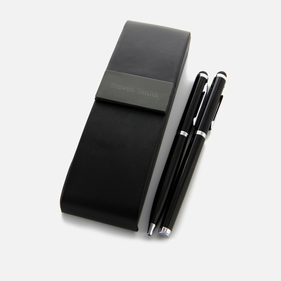 Personalized Noir Double Pens w/Case
