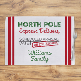 North Pole Express Delivery Custom Christmas Placemat