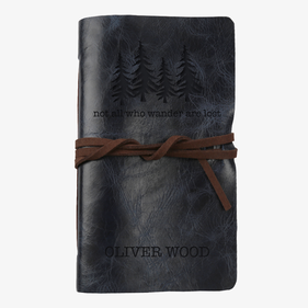 Not All Who Wander Are Lost Custom Leather-Bound Mini Journal