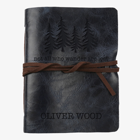 Exclusive Sale - Not All Who Wander Are Lost Custom Leather Wrap Journal