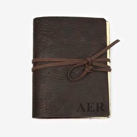 Exclusive Sale - Custom Genuine Leather Antique Wrap Journal