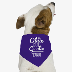Oldie But Goodie Personalized Dog Bandana