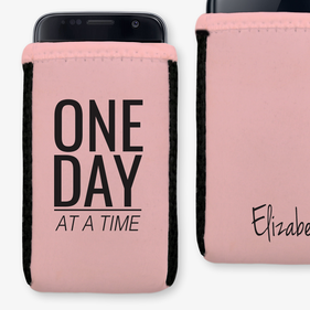 One Day At A Time Custom Phone Pouch