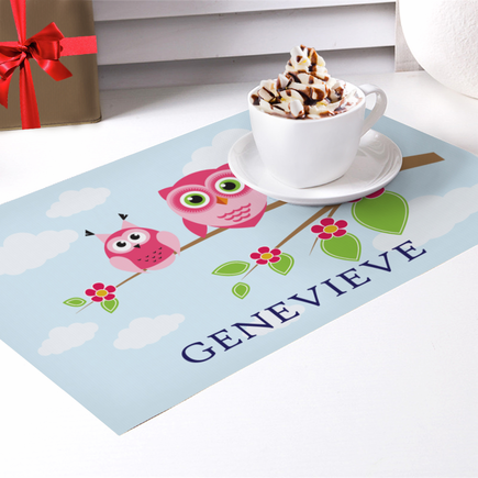 Owl On A Branch Custom Placemat