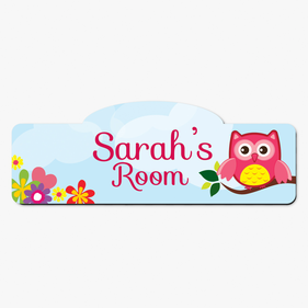 Owl On A Branch Personalized Kids Room Sign