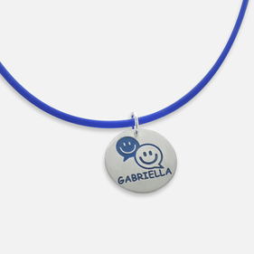 Personalize Let's Chat Name Necklace for kids
