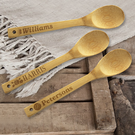 Personalized 12 inch Bamboo Salad Spoon