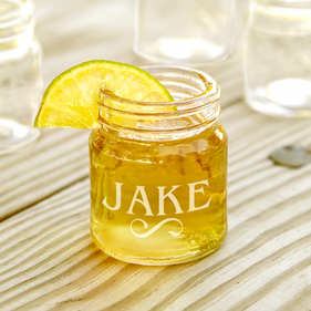 Personalized 2 oz. Mini Mason Jar Shot Glass