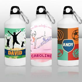 Personalized 20 oz White Water Bottle