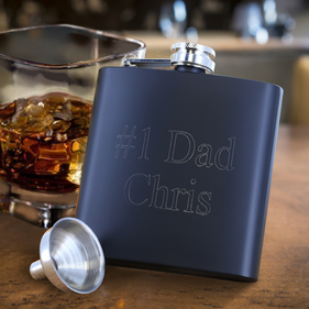 Personalized 6 oz Matte Flask Set