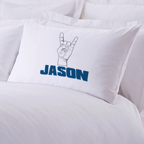 "Personalized ""Rock It"" Pillow Case"