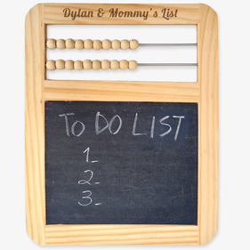 Personalized Abacus With Slate Chalkboard