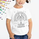 Personalized Add Color Kid's castle T-Shirt