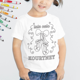 Personalized Add Color Kids Tutu Cute T-Shirt