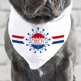Personalized All American Dog Bandana