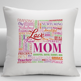 Personalized Amazing Perfect Mom Pillow Cushion Cover