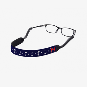 Personalized Anchor Initial Eyewear Retainer