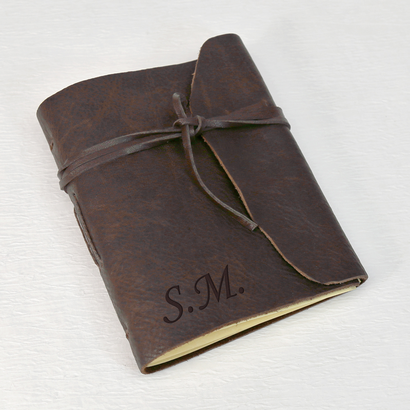 Personalized gifts antiqued leather bound journal shop now personalized genuine leather bound journal negle Gallery