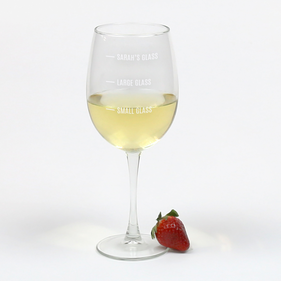Personalized Arc Cachet White Wine