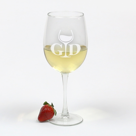 Exclusive Sale - Personalized Arc Cachet White Wine Glass
