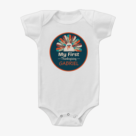 Personalized Baby First Thanksgiving One-Piece Bodysuit