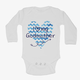 Personalized Baby Love Heart Long Sleeve One-Piece Bodysuit