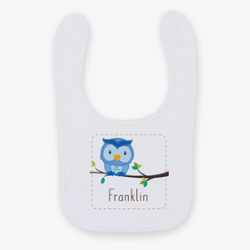 Personalized Baby Owl Bib