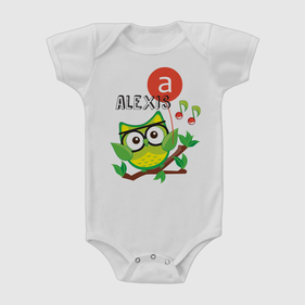 Personalized Baby Wise Owl One-Piece Bodysuit