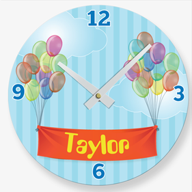 Personalized Balloons Quartz Wall Clock