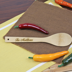 Personalized Bamboo Spoon
