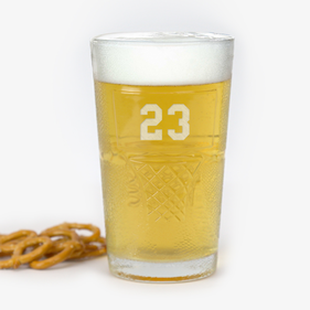 Personalized Basketball Beer Glass