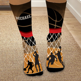 Exclusive Sale - Personalized Basketball Tube Socks