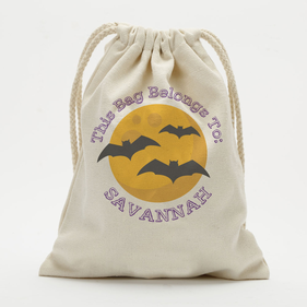 Personalized Bats Drawstring Sack