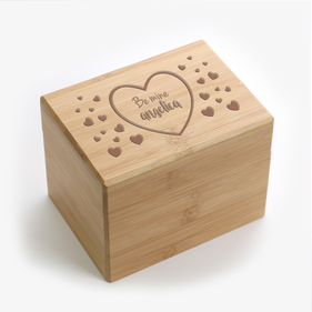 Personalized Be Mine Hearts Recipe Box