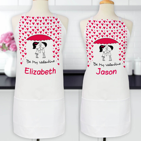Personalized Be My Valentine Apron