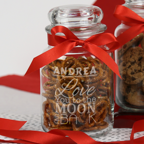 Personalized Be My Valentine Glass Jar
