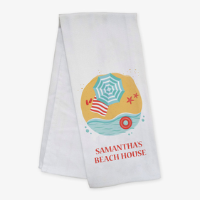 Personalized Beach House Bar Towel