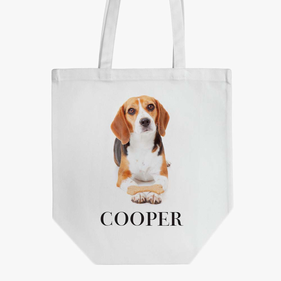 Personalized Beagle Cotton Tote Bag