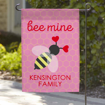 Personalized Bee Mine Garden Flag