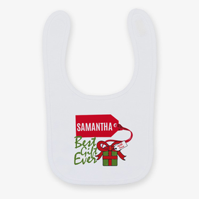 Personalized Best Gift Ever Bib