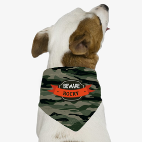 Personalized Beware Dog Bandana