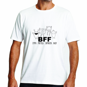 Personalized BFF Design T-Shirt