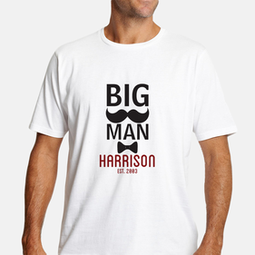 Exclusive Sale - Personalized Big Man T-Shirt for Him