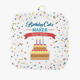 Personalized Birthday Cake Maker Pot Holder