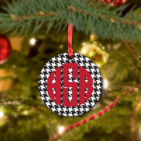 Personalized Block Monogram Ceramic Ornament