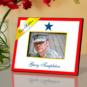 Personalized Blue Star Military Frame