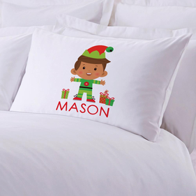 Personalized Boy Elf Kids Pillowcase